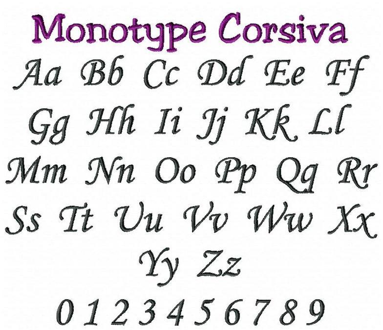 Шрифт monotype corsiva